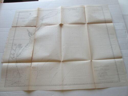 "(1) 1863 U. S. COAST SURVEY CHART: ""NANTUCKETT TO CAPE HATTERAS """