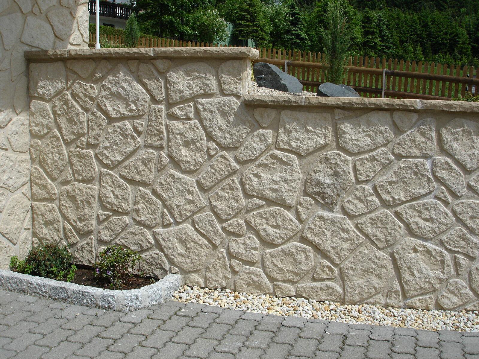 Wandverblender, Verblender, Klinker, Steinoptik, Riemchen Zyclop sand