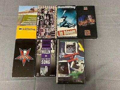 7 Various Skateboard VHS Videos Tapes Lot Free Shipping