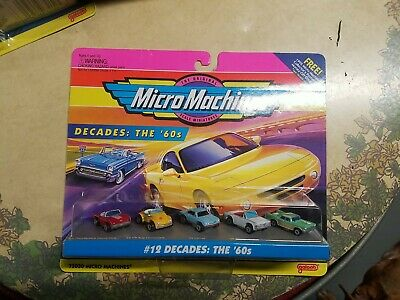 NEW 1994 Galoob Micro Machines Scale Miniatures #12 Decades: The '60s