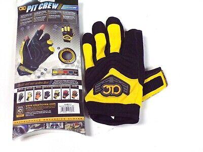 Clc Pit Crew Gloves Fingerless Thumbindex Yellowblack -230y- Size Xxl- F. Ship
