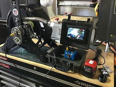 100ft Sewer Camera Pipe Inspection Fiberglass Length Meter Counter On Screen