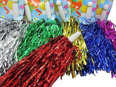 12x Cheerleader Pom Poms Tanzwedel Puschel Tanzpuschel Wedel Pompoms Karneval