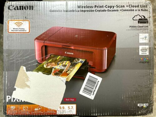 Canon PIXMA MG3620 Inkjet All-In-One Printer - Red - Open Box