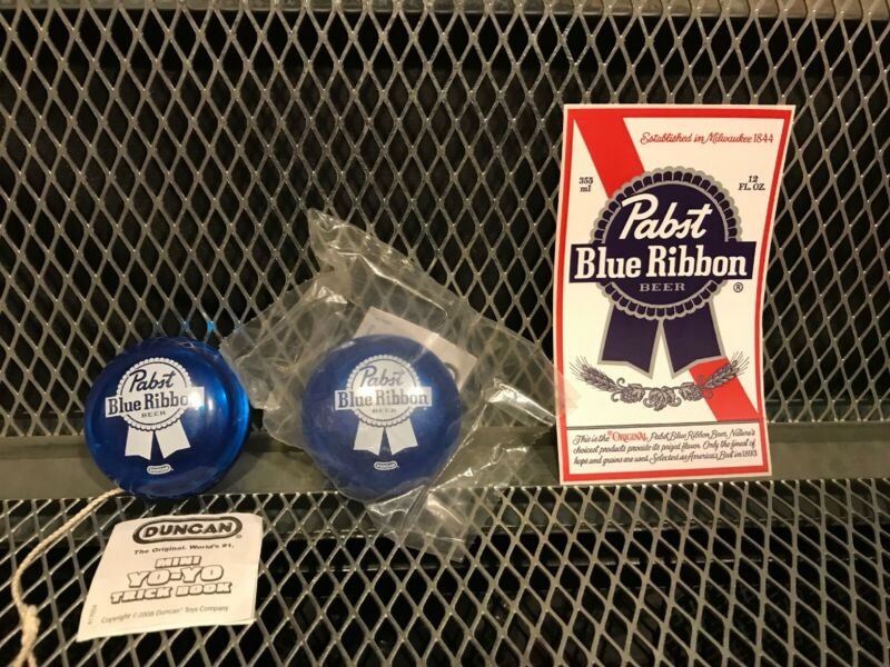 PABST BLUE RIBBON Beer RARE NEW Sealed PKG DUNCAN YOYO w Trick Book PBR Sticker