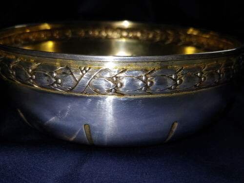 Antique 800 German Silver ART NOUVEAU BOWL ~ WILHELM BINDER ~ WALLERSTEIN