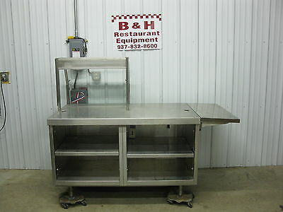 57 X 34 Stainless Steel Heavy Duty Cabinet Work Prep Table W Sneeze Guard