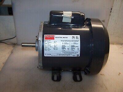 New Dayton 13 Hp 1ph Ac Electric Motor 115208-230 Vac 1725 Rpm 56 Frame Tefc