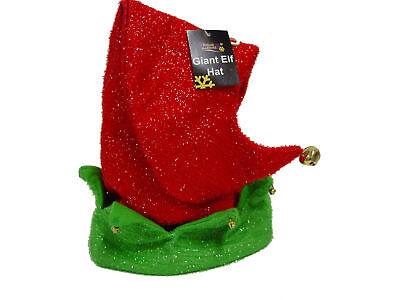 grüne UND ROTE RIESE Gnome Elfen Hut Weihnachten schickes Kostüm (Grüne Riesen Kostüme)