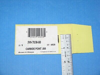New -brown And Sharp Carbide Point .080