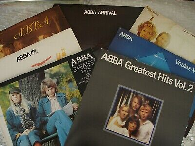 ABBA  7 LP LOT  Please See All Pictures for Titles ~ All VG+ / VG+  Condition