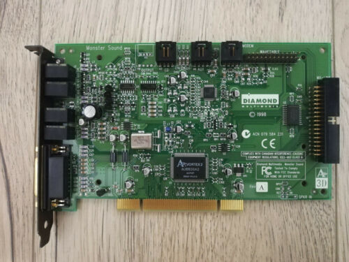 Diamond Monster Sound card MX300 A3D (Aureal Vortex 2 AU8830) PCI (Working)