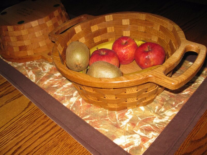 Handmade  Wood Fruit Basket