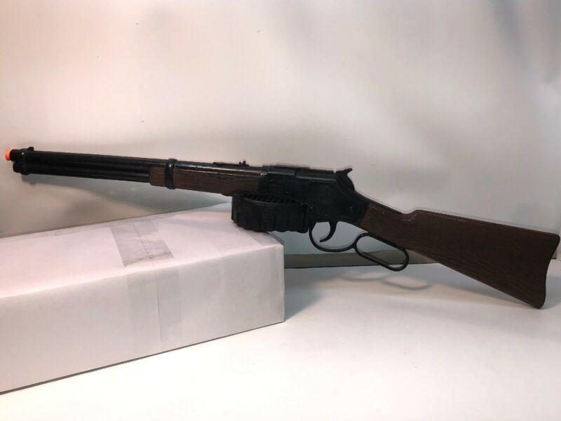 "Mattel Rapid Fire Rifle Gun 26"" Long RARE 1965 Zero W Planet Of The Apes Works"