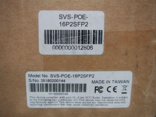 SCW SurveSwitch SVS-POE-16P2SFP2 16FE POE+ 2 SFP for Admiral Imperial Cameras