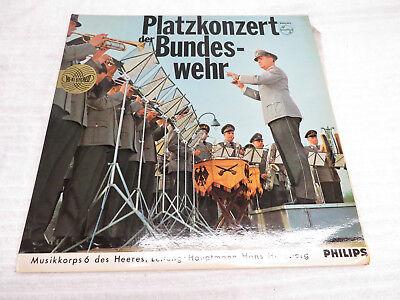"""PLATZKONZERT DER BUNDES-WEHR GERMAN MARCH MUSIC 12"""" VINYL RECORD"""