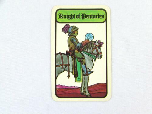 Vintage 1972 Hoi Polloi Tarot *Single Replacement Card* Knight of Pentacles