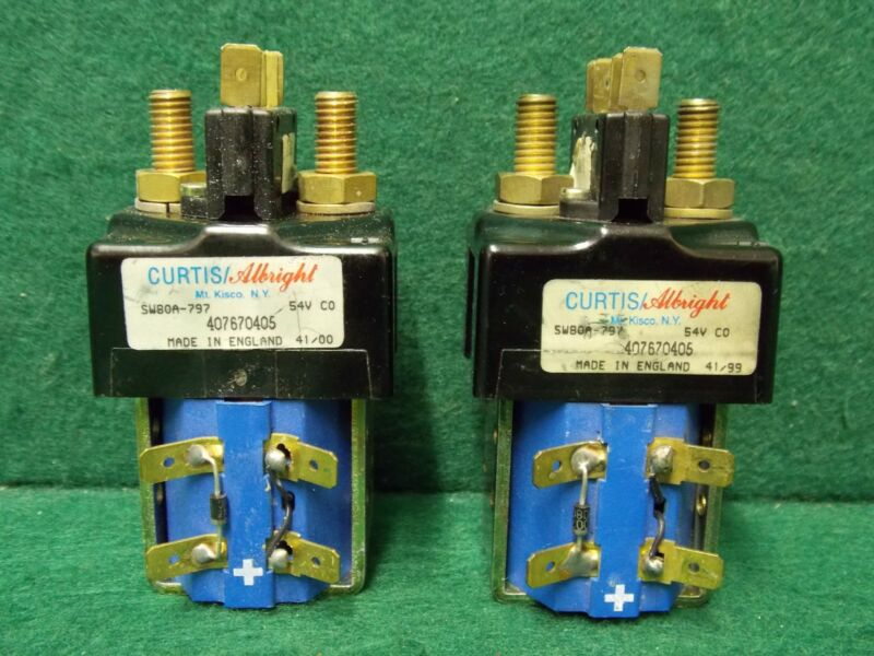 Curtis/ Albright Type SW80A-797 54V Coil Contactor (Lot of 2) ~