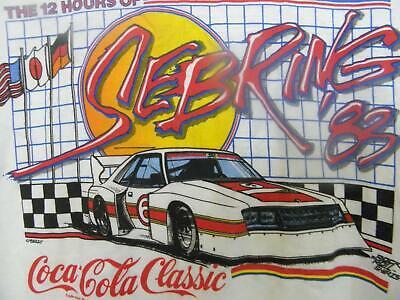 1983 RINGER VINTAGE T SHIRT COCA COLA CLASSIC SEBRING RACING SZ MED USA HANES
