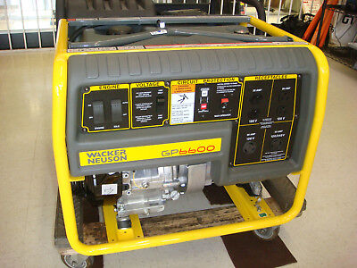Wacker Neuson Gp6600a 6600watt Generator Honda Engine Miami Fl Gp6600