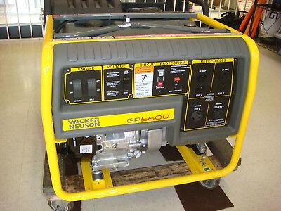 Wacker Neuson Gp6600a 6600watt Generator Honda Engine Miami Fl Gp6600