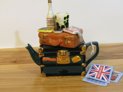 Ceramic Inspirations Orient Express One-Cup Luggage Teapot