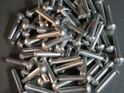 Solid Aluminum Rivet 14 Dia X 1 14 Length Buttonhead 10ea