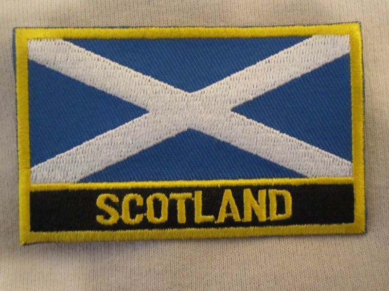 """""""Scotland"""" Signed Patch """"Cross Of St Andrew"""" Scottish Flag Patch Scottish Pride"""