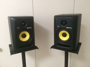 x2 KRK Rokit RP5G3 speakers w/ stands Marryatville Norwood Area Preview