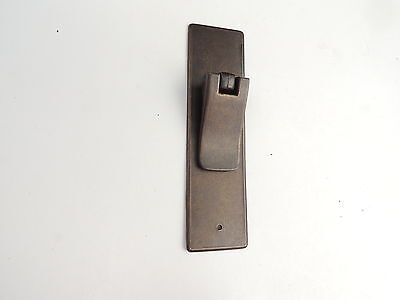 9 New Antique Dark Bronze Drop Pulls with Back Plate Cabinet/Furn. -