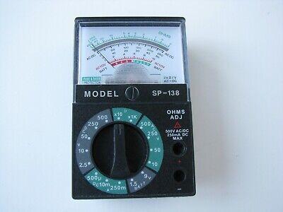 Analogue Multimeter Model Sp-138 Ac-dc Ac10v Voltage Sm Battery Electric Tester