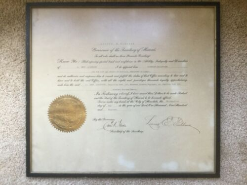 Original Authentic Governor of the Territory of Hawaii signature 1918 document