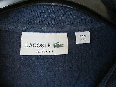 Polo lacoste devanlay bleu marine coton jersey manches courtes 2 regular fit
