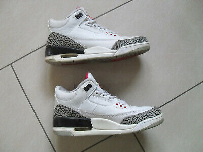 Sportschuhe, Sneaker, Nike Air JORDAN 3 Retro, Gr.40, UK 6, weiß,schwarz,rot,OVP ()