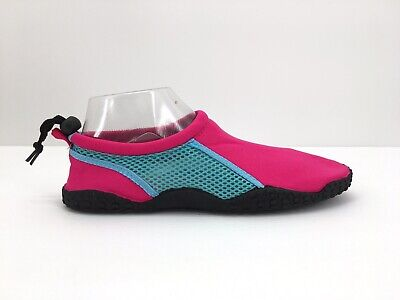 Chatties Womens Water Beach Shoes Pink 9/10 Slippers Sport Active Mesh Toggle Athletic Mesh Slippers