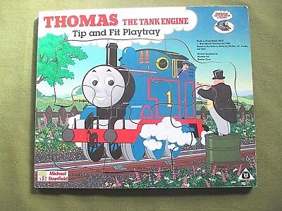 VINTAGE THOMAS THE TANK ENGINE & FRIENDS 6 PIECE 24CM WOODEN JIGSAW PUZZLE 1990