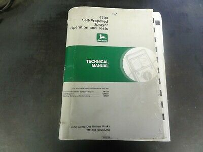 John Deere 4700 Self-propelled Sprayer Operation Test Technical Manual  Tm1833