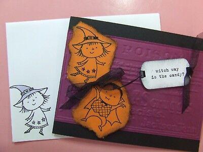 Handmade HALLOWEEN Card EMBOSSED Using  Stampin Up! Tim Holtz Poison GLITTER - Tim Holtz Halloween Cards