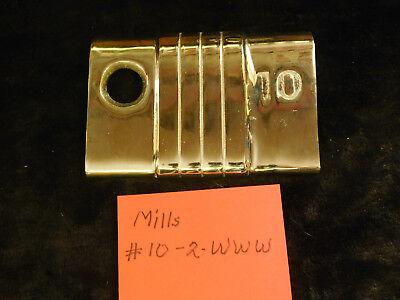 MILLS 10c DENOMINATION MLB7910 REPRO ANTIQUE SLOT MACHINE NICKEL PLATE #10-2 WWW