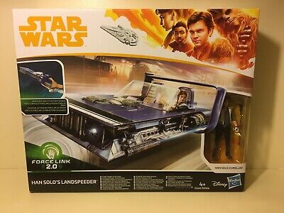 Star Wars Han Solo Action Figure with Force Link 2.0Trolley Land Speeder,31.5