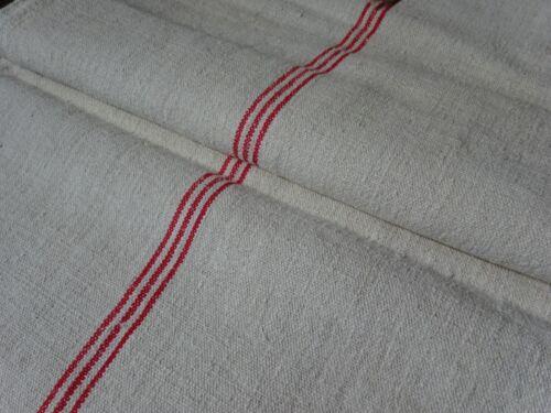Antique European Feed Sack GRAIN SACK Red Stripe # 9654