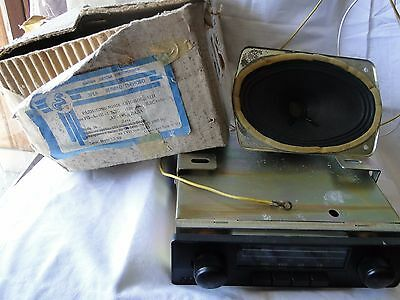 Vintage Radio CAR RESPROM made in Bulgaria 1993 New + box+ speaker