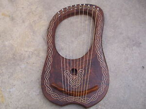 New-Rosewood-Lyre-Harp-10-Strings-with-Tunning-Key-Free-Carrying-Case-Lyra-harp