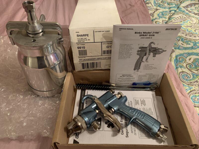 Binks 2100 66SSx66SD Pressure Spray Gun - With New Pressure Tank