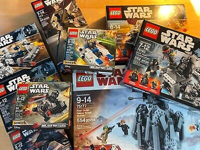 LOT OF 9 NIB LEGO STAR WARS Lego Sets - Micro, Battle and Larger