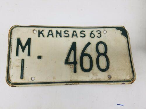 1963 KANSAS Miami County License Plate MI-468