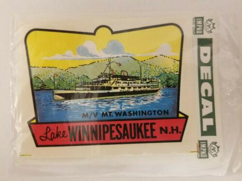 Vintage M/V Mount Washington Lake Winnipesaukee, New Hampshire Travel Decal