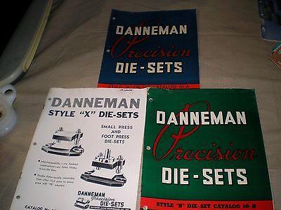 Vintage 1940s DANNEMAN PRECISION DIE-SETS Catalogs, 61-A, 60-B, 62X