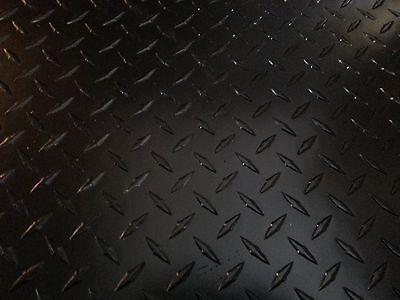 .063 Matte Black Powdercoated Aluminum Diamond Plate Sheet 12 X 36