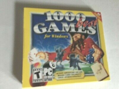 1000 Best Games for Windows - PC Computer Games CD - 2003 New & Sealed